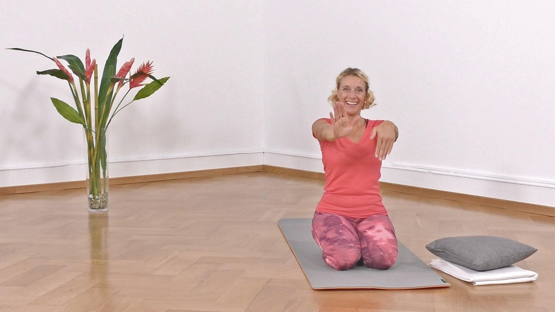 Yoga Anfänger Fersensitz und Handgelenk