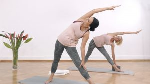 Yoga Anfänger Dreiecksposition