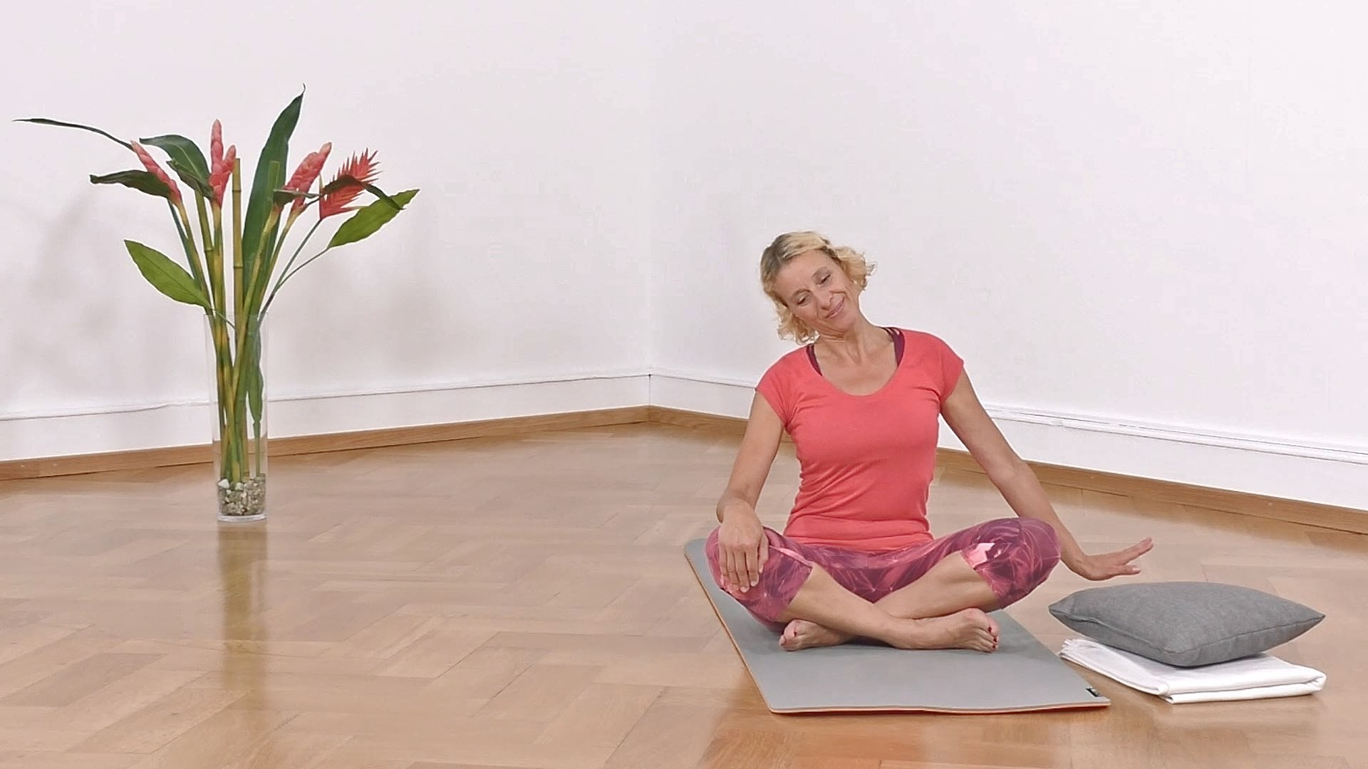 Yoga Anfänger Nackendehnung