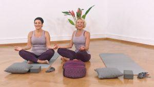 Yoga Anfänger Schneidersitz